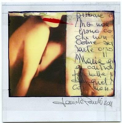 Polaroid Nude Photograph - Polastruttura 2 by Daniele Pezzoli