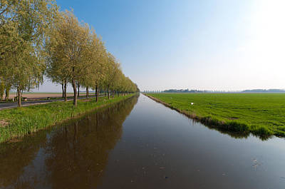 Art Print featuring the photograph Polder Ditch by Hans Engbers