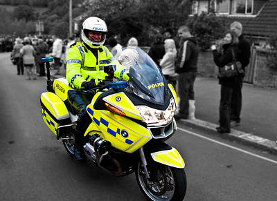 Police Officer Photograph - Police Bmw by Paul Howarth