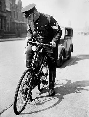 Police Officer Photograph - Police Cyclist by J Smith