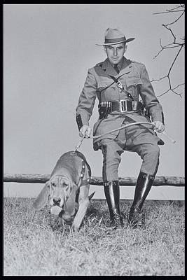 Policeman And His Dog Walking, 1950s Art Print by Archive Holdings Inc.