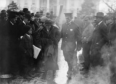 Policeman Leads An Arrested National Print by Everett