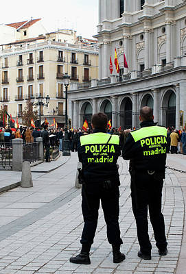 Photograph - Policia Madrid by Lorraine Devon Wilke