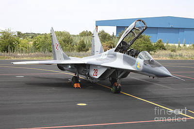 Polish Air Force Mig-29 Parked Art Print