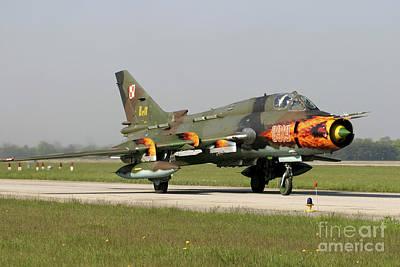 Sukhoi Photograph - Polish Air Force Su-22 Fitter Aircraft by Timm Ziegenthaler
