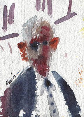 Character Studies Painting - Politician by Donald Maier