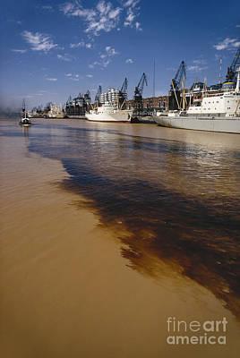 Polluted Water, Rio De La Plata Art Print by Bernard Wolff