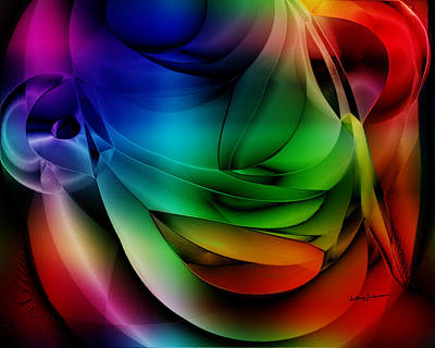Multicolored Digital Art - Polychromatic Abstract by Anthony Caruso