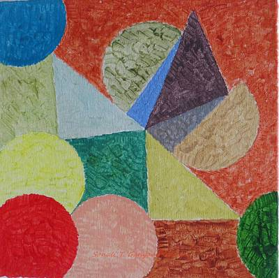 Art Print featuring the painting Polychrome by Sonali Gangane