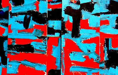 Abstract Expressionism Painting - Polyptych  Iv by John  Nolan
