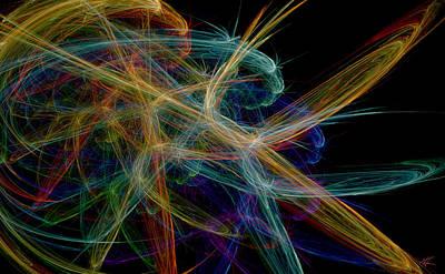 Digital Art - Polysynchronicity 1 by Kenneth Armand Johnson