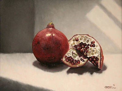 Painting - Pomegranate by Matthew Martelli