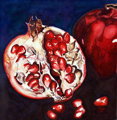 Painting - Pomegranate Study Number Two by Mary C Farrenkopf