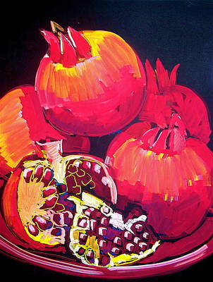 Pastel - Pomegranates by Doris  Lane Grey