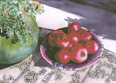 Painting - Pomegranates by Eunice Olson