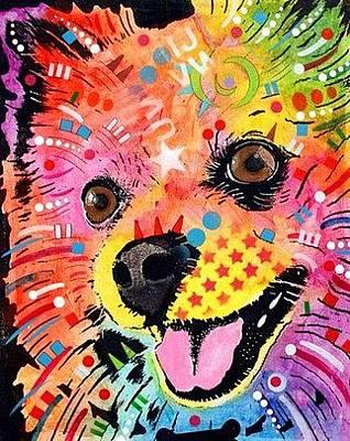 Pomeranian Wall Art - Painting - Pomeranian by Dean Russo