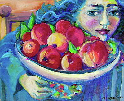 Painting - Pommes by Anne Marie Bourgeois