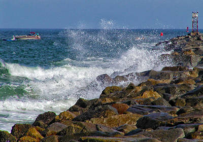 Photograph - Ponce Inlet Jetty by Barbara Middleton