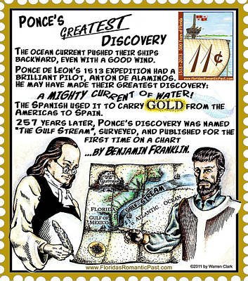 Benjamin Franklin Mixed Media - Ponce's Greatest Discovery by Warren Clark