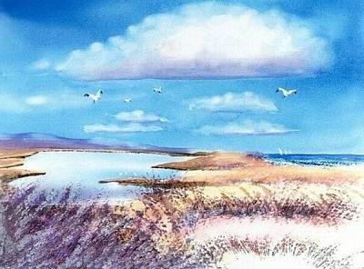 Mashpee Painting - Pond At South Cape Beach by Joseph Gallant