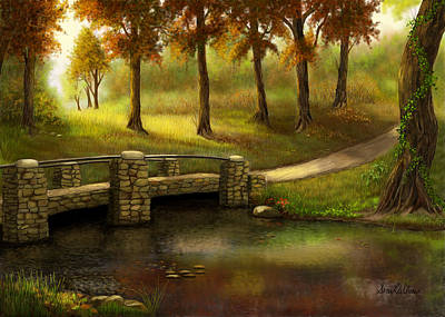 Pond Crossing Art Print