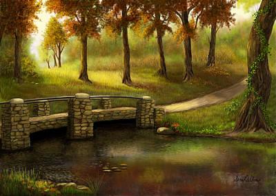 Pond Crossing Art Print
