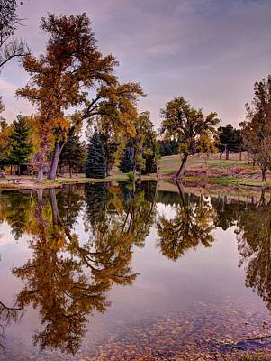 Photograph - Pond In Fall by HW Kateley