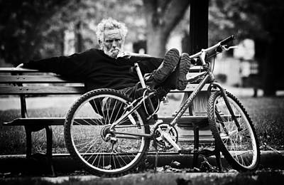Park Benches Photograph - Ponder by Off The Beaten Path Photography - Andrew Alexander
