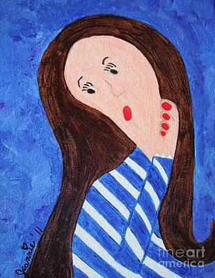 Pondering Brunette Original by Jeannie Atwater Jordan Allen