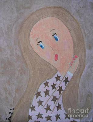 Pondering Sandy Haired Girl Original by Jeannie Atwater Jordan Allen