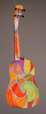 Decorated Ukulele Sculpture - Pono Tenor Ukulele by Jean Groberg