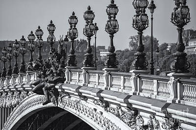 Photograph - Pont Alexander IIi Bw by Clarence Holmes