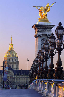 Hotel Des Invalides Photograph - Pont Alexandre 111 And Hotel Des Invalides by Brian Lawrence
