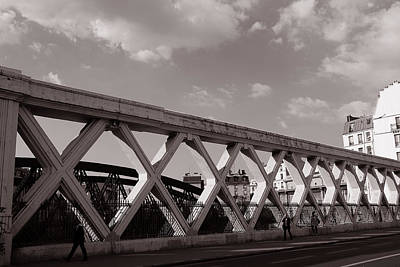 Photograph - Pont Lafayette Paris 2 by Andrew Fare