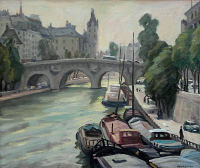 Justice Painting - Pont Neuf A Paris by Thor Wickstrom