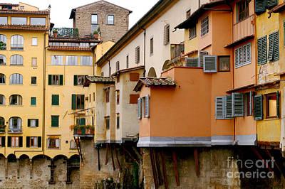 Digital Art - Ponte Vecchio Bridge In Florence Italy by Eva Kaufman