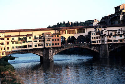 Unique Photograph - Ponte Vecchio From The Shores Of The Arno by Tom Wurl