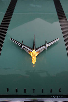 Photograph - Pontiac Hood Ornament Lit by Mick Anderson