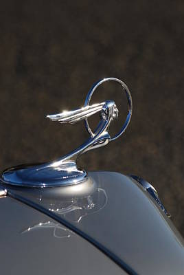 Photograph - Pontiac Indian Hood Ornament by Gene Ritchhart