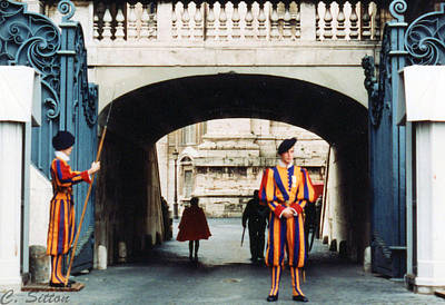 Photograph - Pontific Swiss Guard by C Sitton