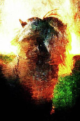 Art Print featuring the digital art Pony by Andrea Barbieri