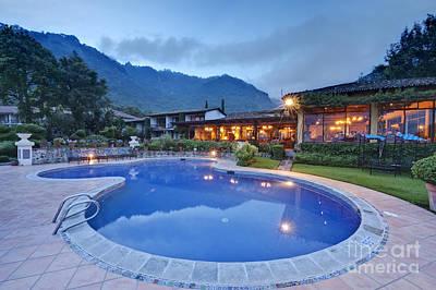 Panajachel Photograph - Pool At The Atitlan Hotel by Rob Tilley