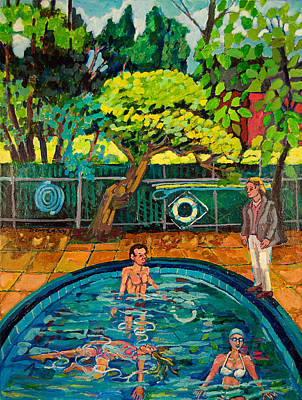 Painting - Pool At Upsal Gardens by Doris  Lane Grey