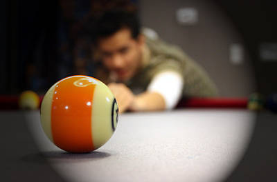 Boll Photograph - Pool Game by Mark Ashkenazi