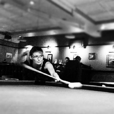 Girl Photograph - #pool #girl #snooker #bar by Torbjorn Schei