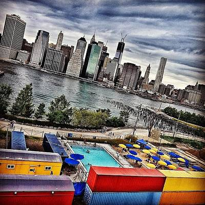 Yellow Wall Art - Photograph - Pool Time - New York by Joel Lopez