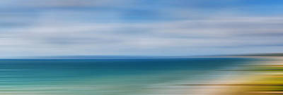 Photograph - Poole Bay Panorama Abstract by Chris Day
