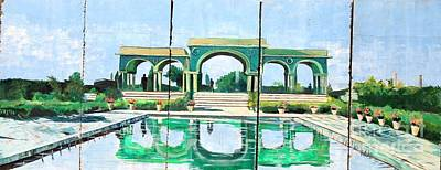 Poolside In Basrah Art Print by Unknown - Local Iraqi National
