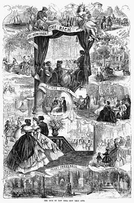 Poor New York, 1865 Art Print