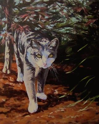 Painting - Pooty's Jungle by Karen Ilari